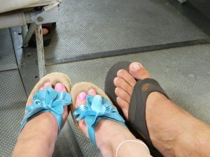 Our Seaplane Adventure - That cute flip-flop and his twin followed us everywhere