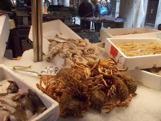 Crab and Octopus In Venetian Market