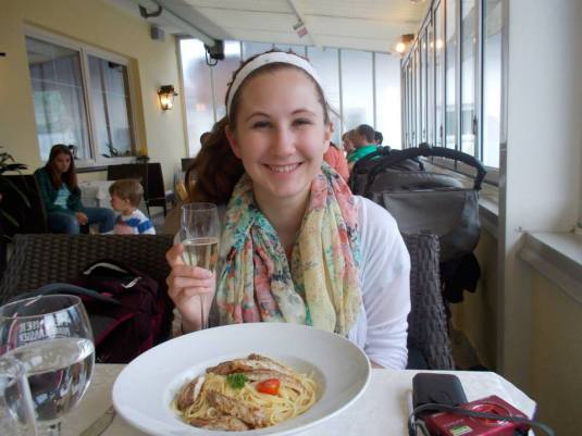 Pasta at Hotel Restaurant