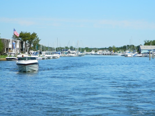 Leaving Patchogue Marina
