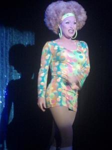 Performer at the Aqua Club