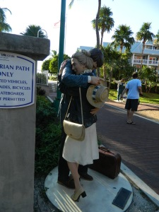 Hugging Couple outside Key West Museum