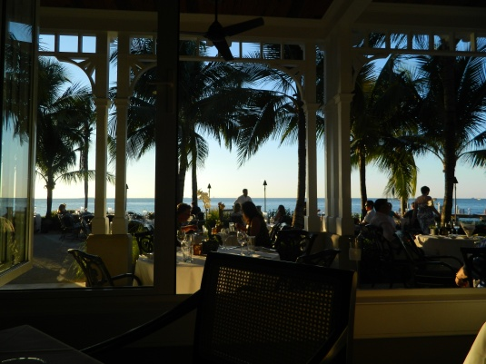 View from an intimate inside table at Latitudes