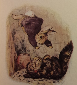 Illustration from The Tale of Benjamin Bunny